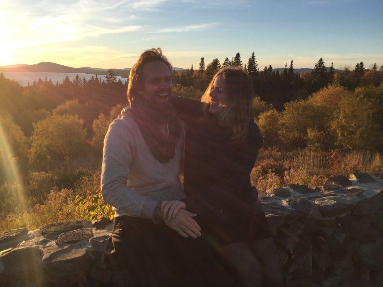 Thijs en Lianne herfst in Maine. Foto Vincent Portegijs