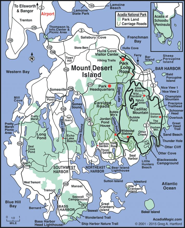 Acadia map lianneschrijft.nl