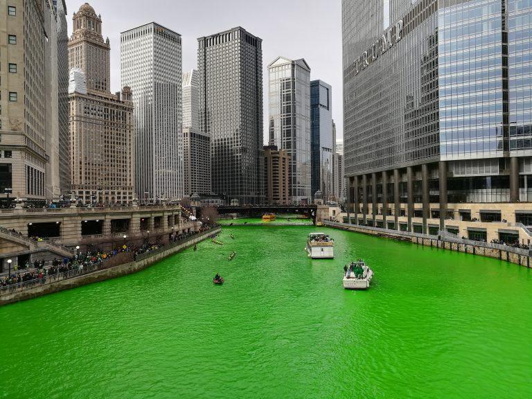 Chicago, Cicago river, st patrick's day, lianneschrijft.nl